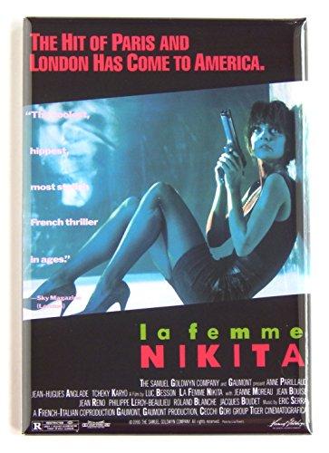 La Femme Nikita Movie Poster Fridge Magnet (2 x 3 inches)