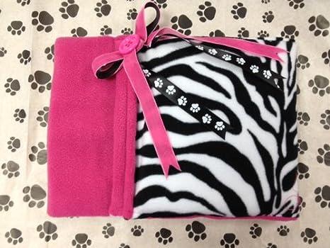 Perro, perro Cozy Saco de dormir, Snuggle cama rosa negro cebra, color blanco polar: Amazon.es: Productos para mascotas