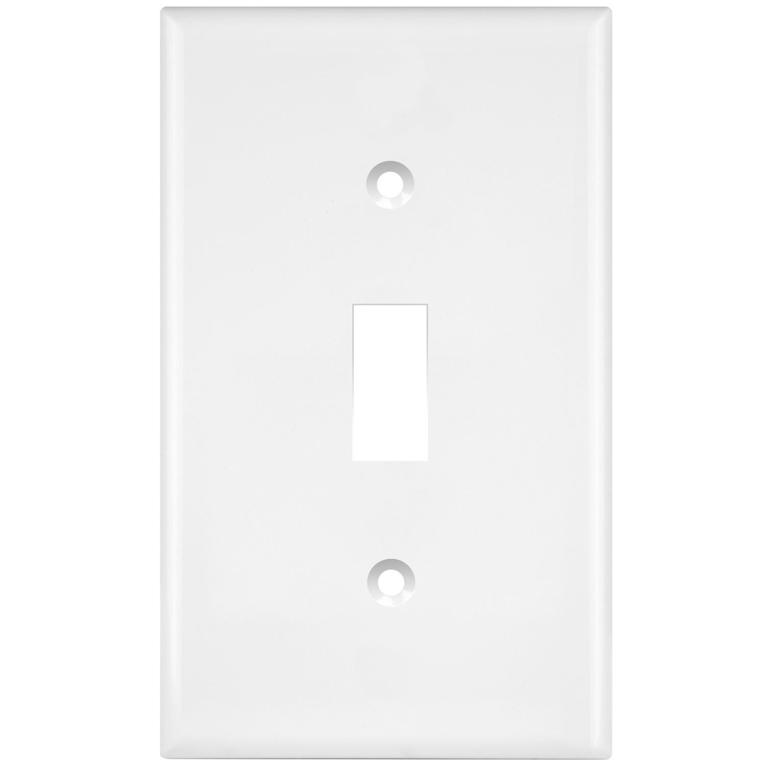 ENERLITES Toggle Light Switch Wall Plate, Size 1-Gang 4.50'' x 2.76'', Polycarbonate Thermoplastic, 8811-W, White
