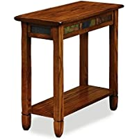Bowery Hill Chairside Small End Table in Rustic Oak