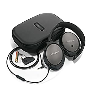 Bose 715053-0110 QuietComfort 25 Acoustic Noise Cancelling Headphones for and Android devices, Black (wired, 3.5mm)