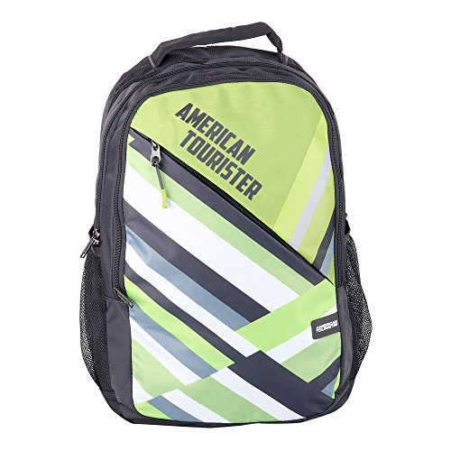 AMERICAN TOURISTER BACKPACK JAZZ 02   2017  GREY/LIME