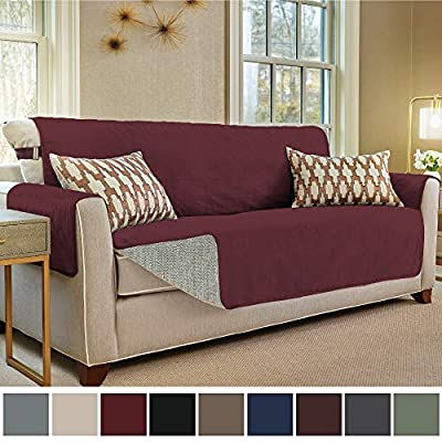 Gorilla Grip Original Premium Micro-Suede Slip Resistant Slip-Cover Couch Protector, Furniture Cover Features 2 Inch Straps and Hook, Perfect for Kids, Dogs, Cats and Pets