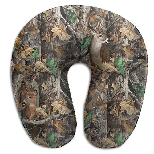 CHJOO Neck Pillow, Realtree Camo Wallpapers Travel Pillow for Travel, Home, Neck Pain, and Many More with The Comfort Support Pillows