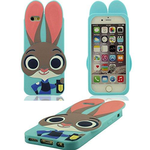 Weiche Silikon-Gel Blau Schutzhülle Case Apple iPhone 6S Plus / 6 Plus 5.5 inch Cartoon Hase Judy Aussehen Entwurf