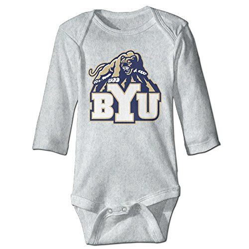 Price comparison product image OOKOO Baby's Brigham Young University Cougars Bodysuits Ash 18 Months