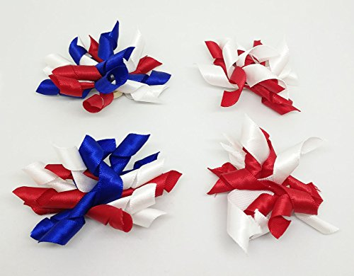 PET SHOW Pet Small Dogs Hair Bows With Rubber Bands Cat Hair Accessories Grooming Supplies Curly Assorted Styles Pack of 20 by PET SHOW (Image #3)