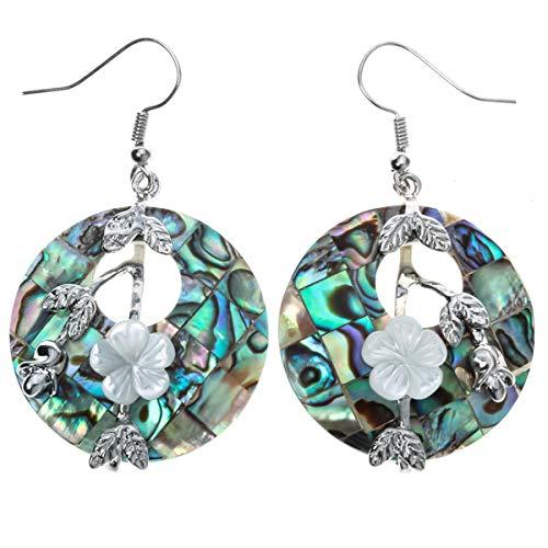 YACQ Jewelry Women's Sea Shell Drops Dangle Earrings - Earrings Abalone White