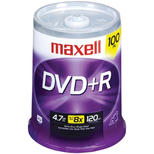 The BEST MAXELL 4.7GB DVD+R 100CT SPINDLE for sale  Delivered anywhere in USA