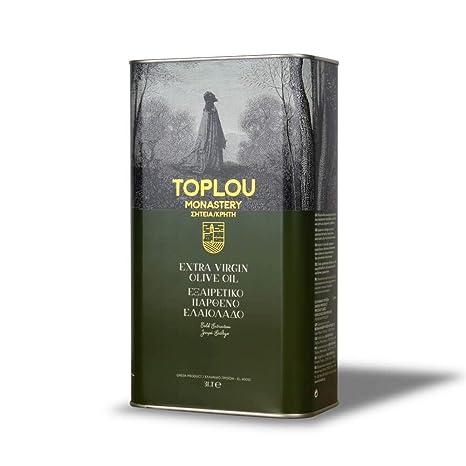 Griechisches Premium Olivenöl nativ extra von Kreta, kaltgepresst   3 L Kanister   zum Kochen, Backen & Braten   Toplou Monas