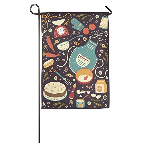 Bright Kitchen Ware Cooking Seasonal Porch Yard House Garden Flags 12 X 18 Semi Transparent Polyester Fiber Emblemize