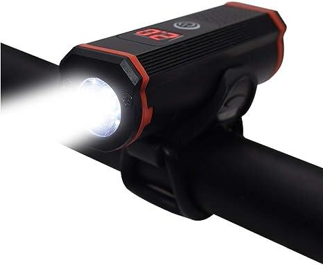 SOOJET Luz LED para Bicicleta Recargable por USB, 5 Modos, Resistente al Agua, Set de luces para Bicicleta Delantera 400 LM, Instalación Fácil, Bicicleta de Carretera o Montañan: Amazon.es: Deportes y aire