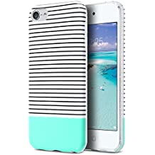iPod Touch Case,iPod 6 Case,ULAK CLEAR Case SLIM FIT Anti-Scratch Flexible Soft TPU Bumper PC Back Hybrid Shockproof Protective Case for Apple iPod Touch 5/6th Generation-Minimal Mint