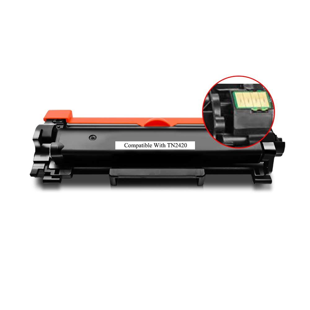 BeOne® Compatible con el Cartucho de tóner TN2420 TN2410 Utilizado de Brother, Utilizado TN2410 en impresoras HL-L2375DW DCP-L2550DW MFC-L2715DW MFC-L2750DW HL-L2386DW HL-L2385DW HL-2370DW HL-L2350DW d35c70
