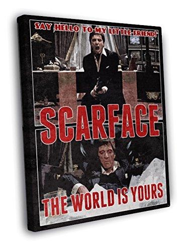 Amazoncom Scarface 1983 Movie Art Retro Vintage Say Hello To My