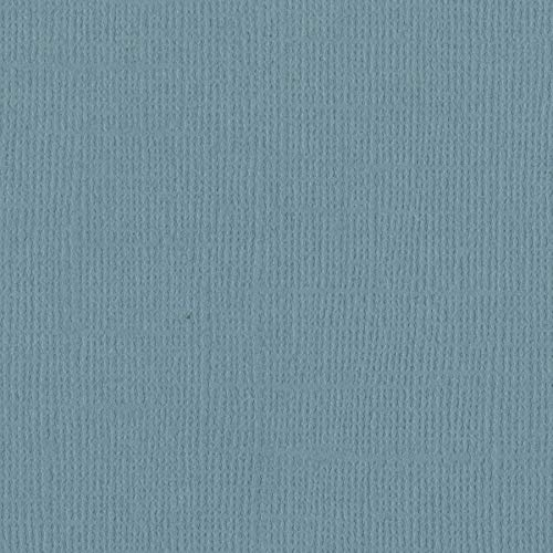 Bazzill Coastal 12x12 Textured Cardstock | 80 lb Blue-Gray Colored Scrapbook Paper | Premium Card Making and Paper Crafting Supplies | 25 Sheets per Pack ()