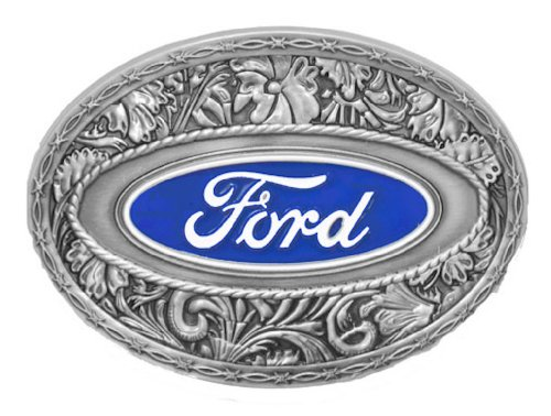 Ford Logo Western Style Enamel Pewter Be - Ford Belt Buckle Shopping Results