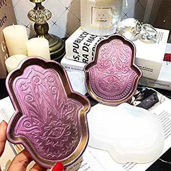 Resin Art Hamsa Hand of Fatima Jewelry Keys Tray  Dish