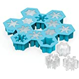 TrueZoo Snowflake Silicone Ice Cube Tray and Mold- Candy, Soap, Toy, DIY by