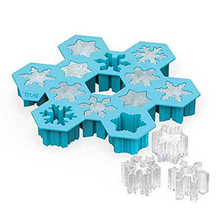 Snowflake Silicone Ice Cube Tray and Mold- Candy, Soap, Toy, DIY by TrueZoo