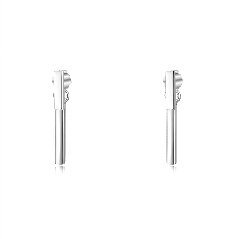 Sterling Silver Double Bar Earrings