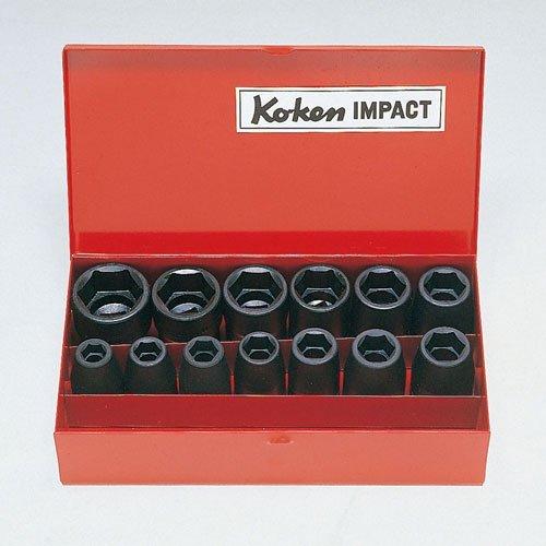 コーケン 1/2(12.7mm) SQ. インパクト12角ソケットセット 13ヶ組 14241M-05 B004IKQ91W