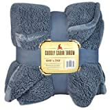 """Cuddly Cabin Throw - 60"""" x 70""""- Color: Blue"""
