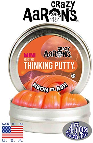 Crazy Aaron's Thinking Putty Mini Tin Gift Set Bundle (Sample Set 3) with Super Fly, Neon Flash, Super Lava, Amber, Love Air & Exclusive Scorpion Skin Glow in The Dark - 6 Pack by Crazy Aaron's (Image #1)