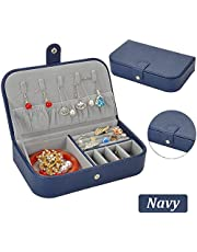 QBeel Jewelry Organizer Double-Layer 36 Compartments Lint Jewelry Box Jewelry Holder with Lock for Earrings Bracelets Necklaces Rings Watches