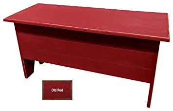 Peachy Sawdust City Wooden Storage Bench 3 Long Old Red Pabps2019 Chair Design Images Pabps2019Com