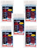 Ultra Pro 100 Pcs Soft Card Sleeves, 2 5/8 x 3 5/8-Inches (5 Pack)