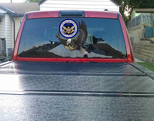 Large American Eagle Honoring Police Law Enforcement Logo Decal Sticker- Car ,Windows ,Truck,bumper, Laptop (9