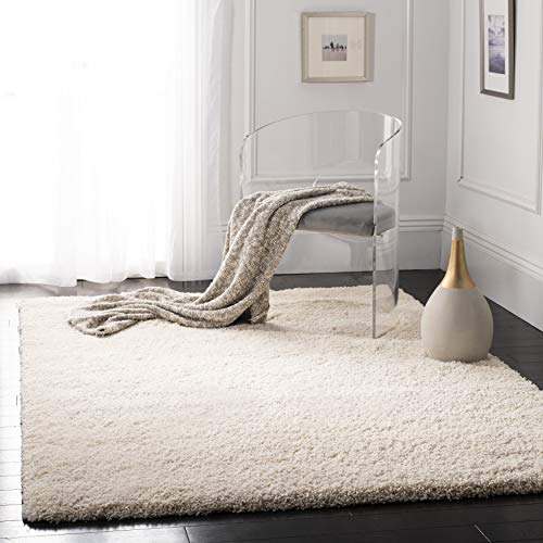 Safavieh California Premium Shag Collection SG151-1212 Area Rug, 4' x 6', Ivory