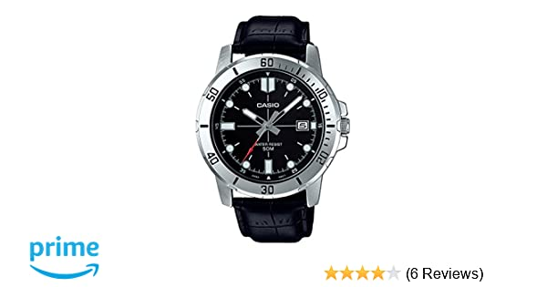 Amazon.com: Casio MTP-VD01L-1EV Mens Enticer Stainless Steel Black Dial Casual Analog Sporty Watch: Watches
