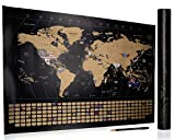 Scratch Off World Map- Detailed Travel Map Poster- Includes Scratch Off Pen- Perfect Gift for Travelers- 32 x 23