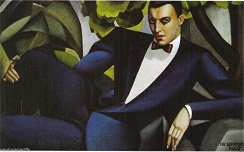 Portrait du Marquis d'Affitto : Tamara De Lempicka : circa 1925 [Art Deco] ART PRINT