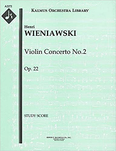 Violin Concerto No.2, Op.22: Study Score [A2272]