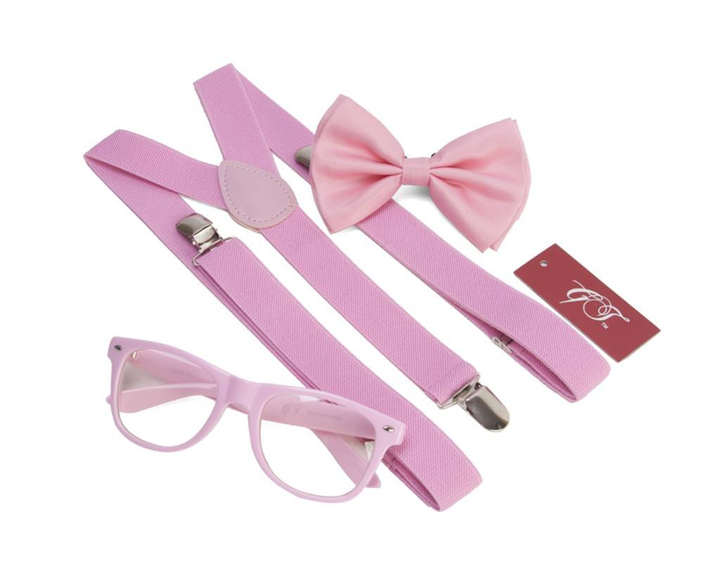 Gravity Trends Hipster Nerd Outfit Kit, Pink