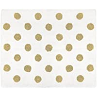 Sweet JoJo Designs Gold Polka Dot Accent Floor Rug Bedroom Decor for Amelia Girls Kids Bedding Collection