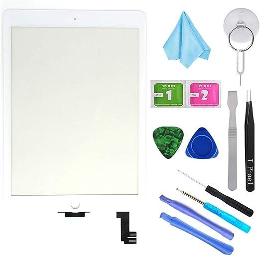 T Phael White New Digitizer Repair Kit for iPad Air 2 9.7