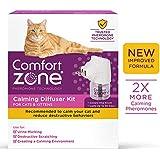 Comfort Zone New Formula Calming Diffuser Kit for Cat Calming, 1 Diffuser, 1 Refill