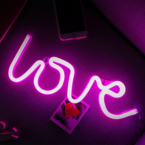 Neon Light,LED Love Sign Shaped Decor Light,Wall Decor for Valentine's Day,Birthday party,Kids Room, Living Room, Wedding Party Decor (purple pink) (Wall Valentine)