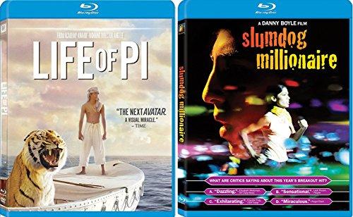 Slumdog Millionaire & Life of Pi Blu Ray + DVD Dreamer Movie Set
