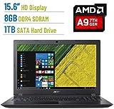 Newest Premium Acer Aspire E 15.6-inch HD (1366x768) Laptop PC, AMD A9-9410 2.9GHz Processor, 8GB DDR4 SDRAM, 1TB HDD, AMD Radeon R5 Graphics, 802.11ac, HDMI, Bluetooth, Webcam, DVD±RW, Windows 10