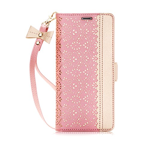 Note 8 Case, Galaxy Note 8 Case, WWW [ Mirror Series] PU Leather Case Kickstand Flip Case with Card Slots and Mirror for Samsung Galaxy Note 8 Rose Gold