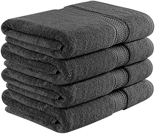 Utopia Towels Premium Bath Towels, 4 Pack, 700 GSM Towels, Grey
