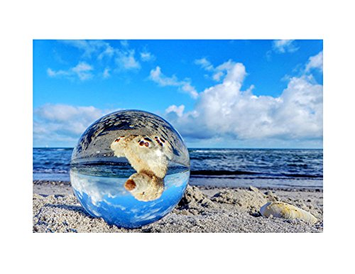 Crystal Sphere Ball,Contact Juggling Ball Clear Crystal Healing Ball for Photography Home Decoration 40mm