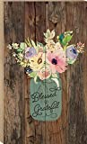 P. GRAHAM DUNN Blessed & Grateful Jar of Flowers Design 24 x 14 Wood Boxed Pallet Wall Art Sign Plaque Review