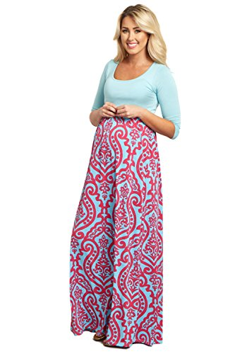 pink and blue maternity dress - 4