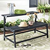 Safavieh Pat6753B Outdoor Bench, Color Dark Slate Grey, Pack of/Paquete de 1